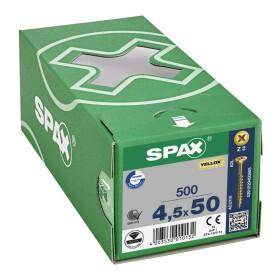 SPAX Senkkopf Kreuzschlitz Z - Teilgewinde YELLOX A2L  PZ2  -  4,5x50  -  500 Stk