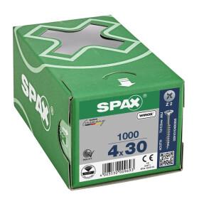 SPAX Senkkopf Kreuzschlitz Z - Teilgewinde WIROX A3J  PZ2  -  4x30  -  1000 Stk
